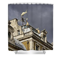 Billingsgate Fish Market London Shower Curtain by Shirley Mitchell