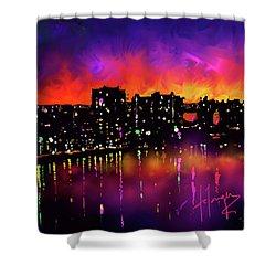 Biscayne Bay, Miami Shower Curtain