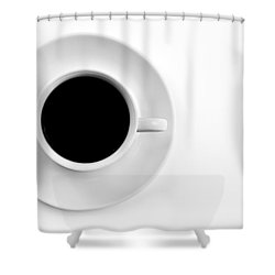 Shower Curtain featuring the photograph Black Coffee by Gert Lavsen