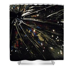 Black Hole Shower Curtain by Angela Stout