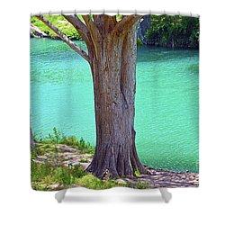 Blanco River Texas Shower Curtain by Ray Shrewsberry