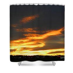 Blazing Carolina Sunset Shower Curtain