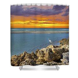 Blind Pass Sunset Shower Curtain