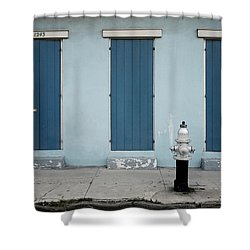 Blue And Silver At 1243 Shower Curtain