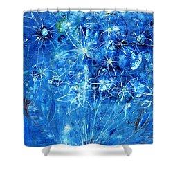 Blue Design Shower Curtain