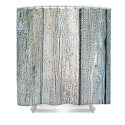 Shower Curtain featuring the photograph Blue Fading Paint On Wood by John Williams