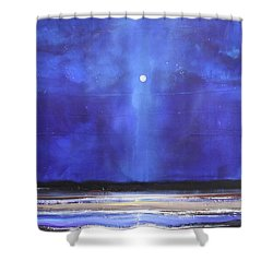 Blue Night Magic Shower Curtain by Toni Grote