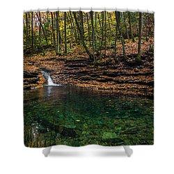 Shower Curtain featuring the photograph Blue Ridge Cascade by Serge Skiba