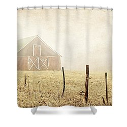 Blue Ridge Farm Shower Curtain by Darren Fisher