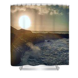 Blueside Shower Curtain by Billie-Jo Miller