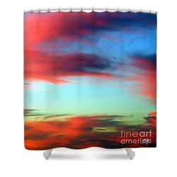 Shower Curtain featuring the photograph Blushed Sky by Linda Hollis