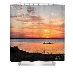 Boating Sunset Shower Curtain