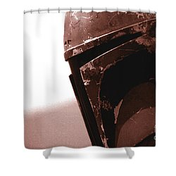Shower Curtain featuring the photograph Boba Fett Helmet 32 by Micah May