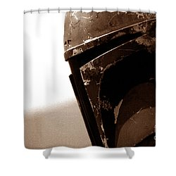 Shower Curtain featuring the photograph Boba Fett Helmet 33 by Micah May