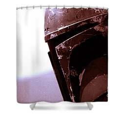 Shower Curtain featuring the photograph Boba Fett Helmet 34 by Micah May
