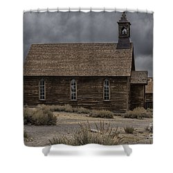 Shower Curtain featuring the photograph Stormy Day In Bodie State Historic Park by Sandra Bronstein