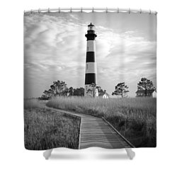 Shower Curtain featuring the photograph Bodie Island Lighthouse by Marion Johnson