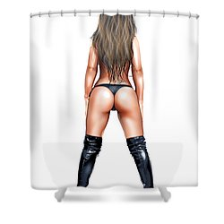 Booty Shower Curtain