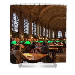 Shower Curtain featuring the photograph Boston Public Library by Joann Vitali