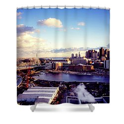 Boston Sunset Shower Curtain by L O C