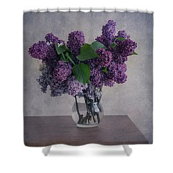 Shower Curtain featuring the photograph Bouquet Of Fresh Lilacs by Jaroslaw Blaminsky