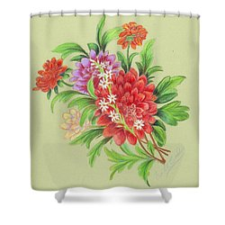 Bouquet  Shower Curtain by Ruth Seal