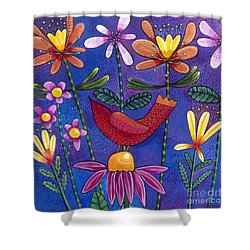 Shower Curtain featuring the painting Brand New Day by Carla Bank