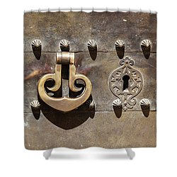 Brass Door Knocker Shower Curtain