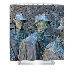 Bread Line Sculpture Shower Curtain