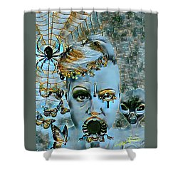 Break Free Shower Curtain by Vennie Kocsis