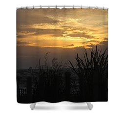 Shower Curtain featuring the photograph Breaking Dawn by Robert Banach
