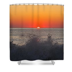 Breaking Wave At Sunrise Shower Curtain