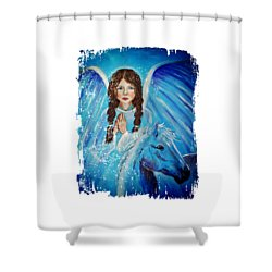 Brianna Little Angel Of Strength And Courage Shower Curtain by The Art With A Heart By Charlotte Phillips