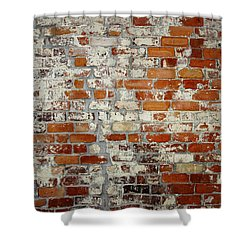 Brick Wall Shower Curtain by Les Cunliffe