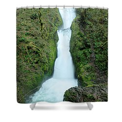 Shower Curtain featuring the photograph Bridal Veil Falls by Jeff Swan
