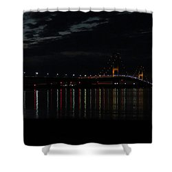 Bridge At Dusk Shower Curtain by Keith Stokes