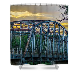 Shower Curtain featuring the photograph Bridge by Jerry Cahill
