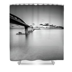 Shower Curtain featuring the photograph Bridge by Okan YILMAZ