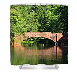 Bridge Reflection In The Spring Shower Curtain