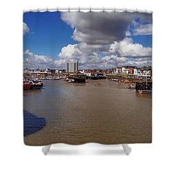 Bridlington Harbour Shower Curtain