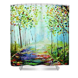 Bright Path Shower Curtain