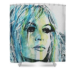 Brigitte Bardot Shower Curtain by Paul Lovering