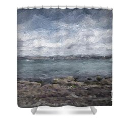 Shower Curtain featuring the photograph Brixham Harbour by Patricia Hofmeester