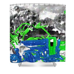 Broken Homes Shower Curtain