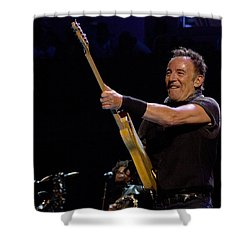 Shower Curtain featuring the photograph Bruce Springsteen In Cleveland by Jeff Ross