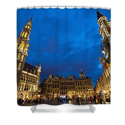Brussels, Belgium Shower Curtain by Axiom Photographic