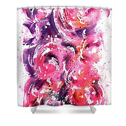 Bubbles Shower Curtain by Rachel Christine Nowicki