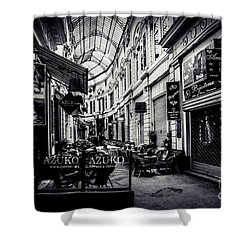 Monochrome Bucharest  Macca - Vilacrosse Passage Shower Curtain