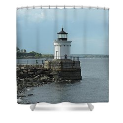 Bug Light Shower Curtain