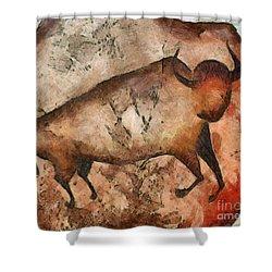 Bull A La Altamira Shower Curtain